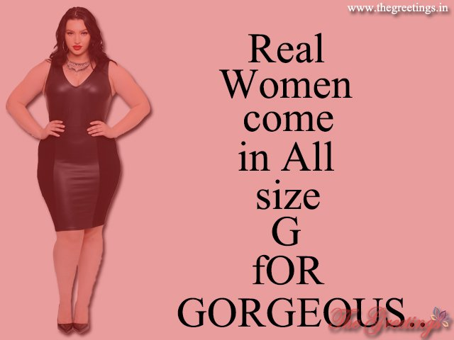 thick size women quote