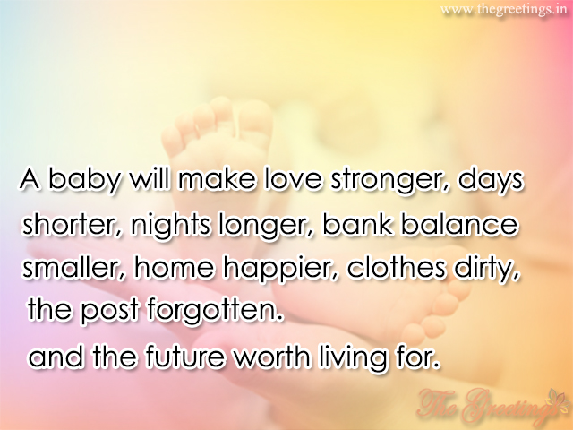 born baby quote for parents