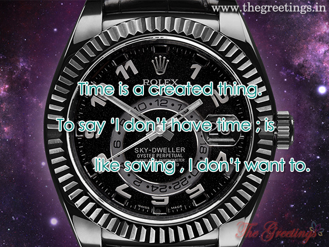 Quotes- About Time and watches