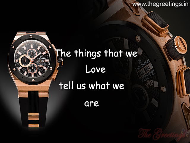 Quotes love Wrist Watch