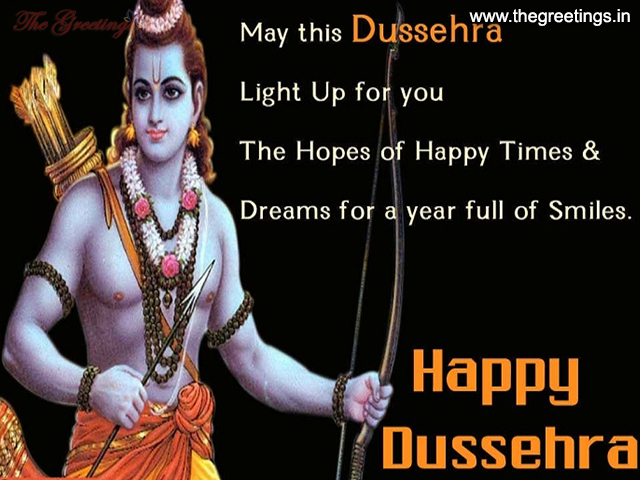 Dussehra Wishes Messages card