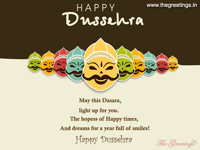 Dussehra Wishes card