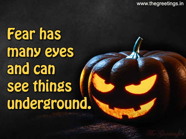 Fear on Halloween quotes