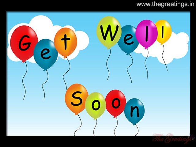 Get well soon cards and images