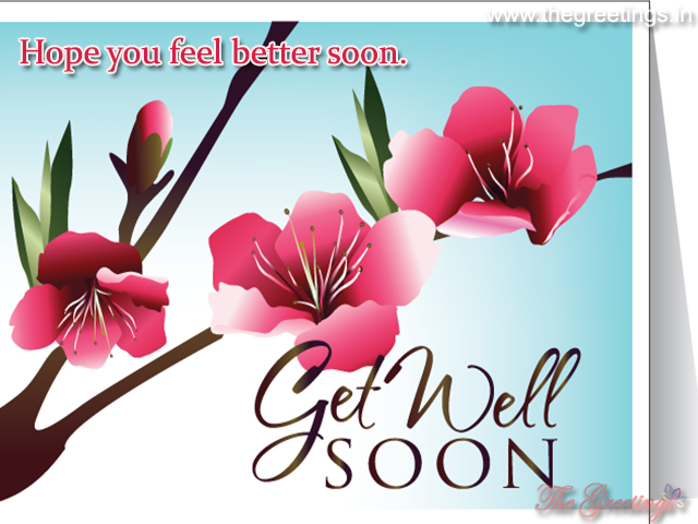 Get well soon cards with flower