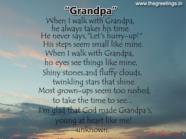 beautiful sayings for grandpa