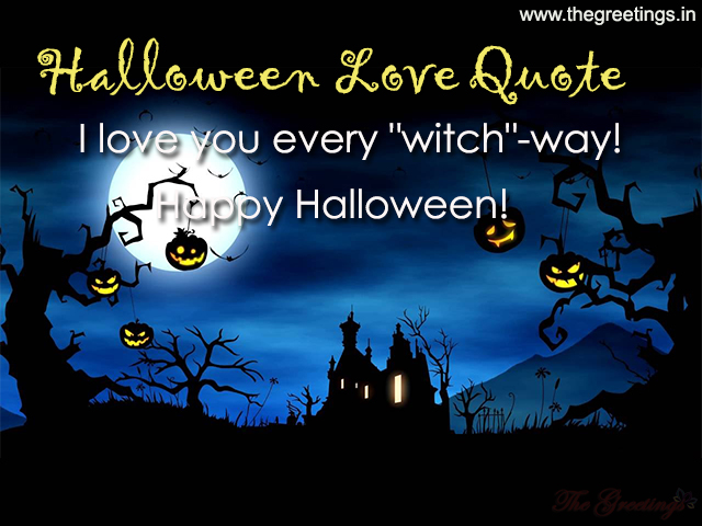 Halloween cute love quotes