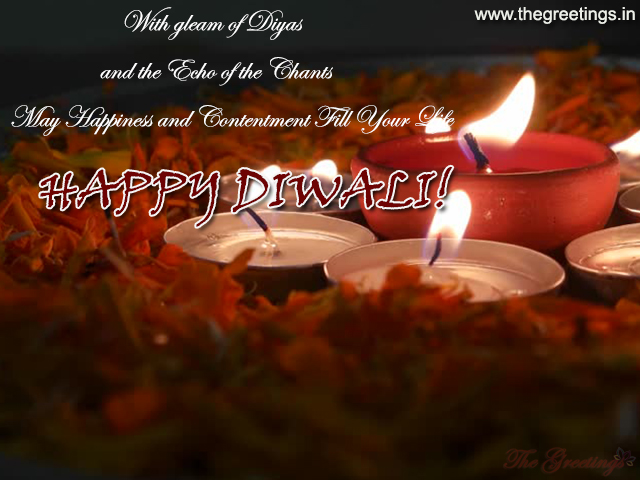 Happy Diwali Beautiful Diya Greeting