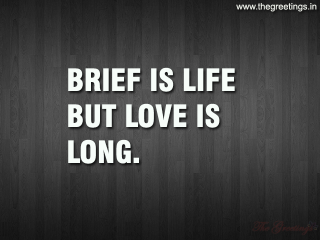 short life quotes about love and brief life