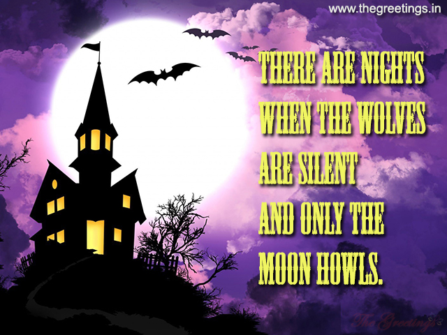 Short scarry Halloween Quotes