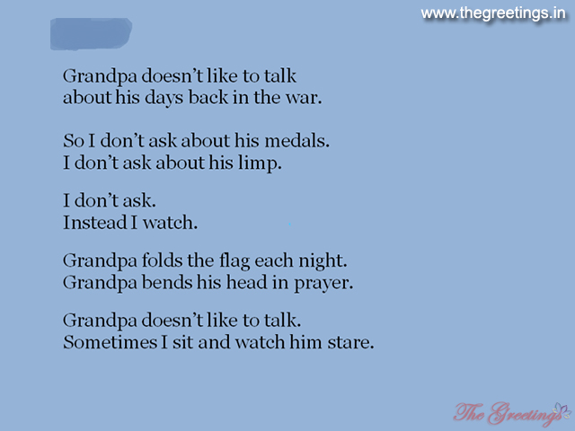 beautiful lines about grandpa