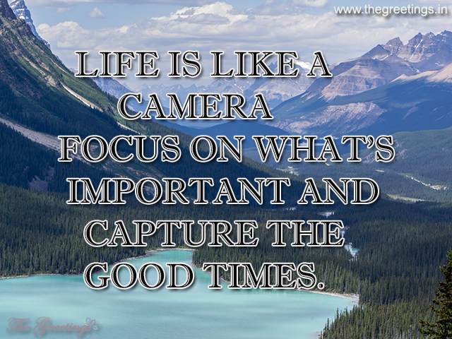best visual life sayings